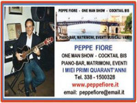 Peppe Fiore one man show & cocktail bis