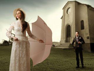 Immagini e scene... come in un film d'amore per un servizio fotografico all'insegna del romanticismo
