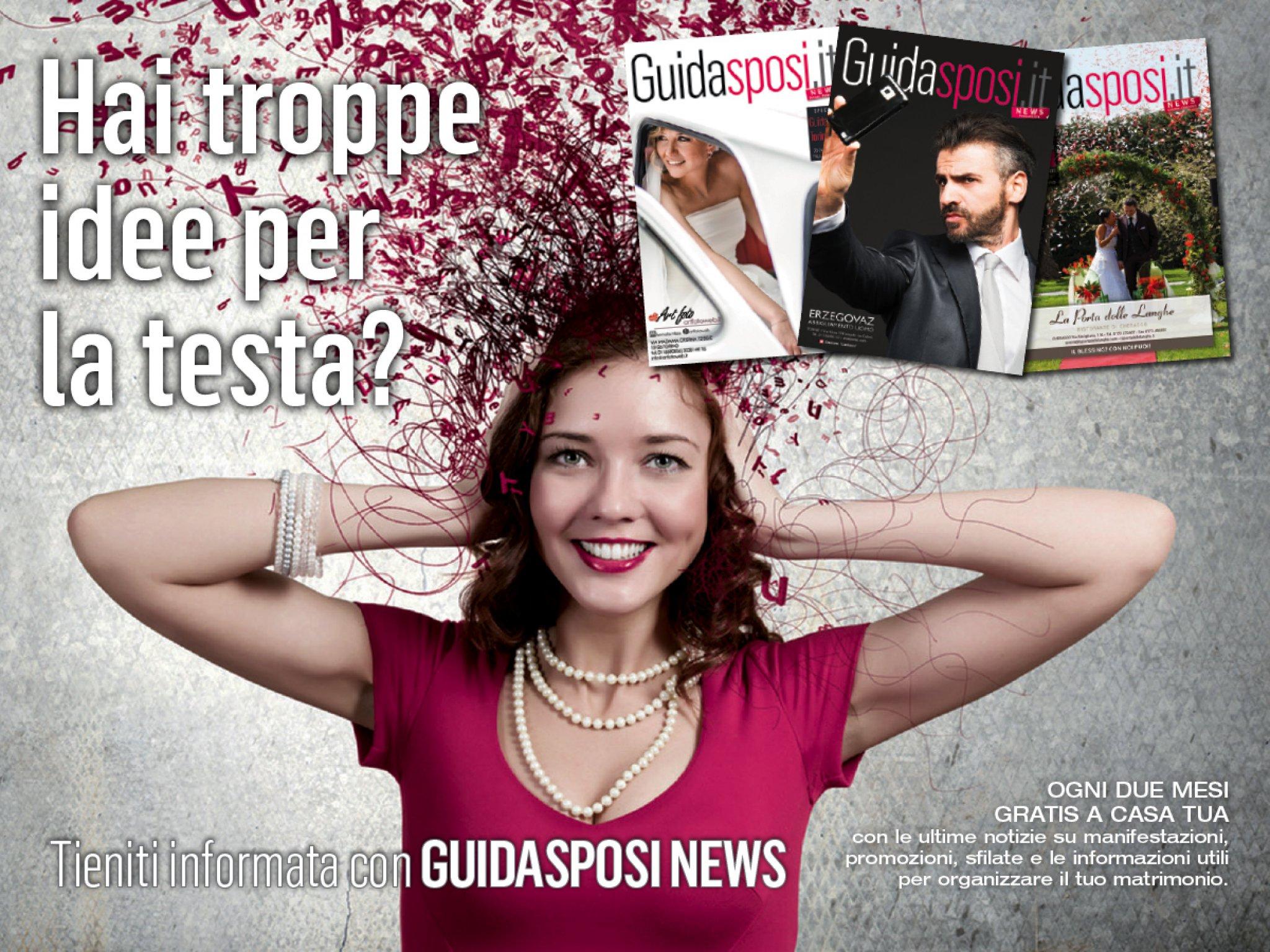 Guidasposi News il bimestrale utile per l'organizzazione del matrimonio in Piemonte