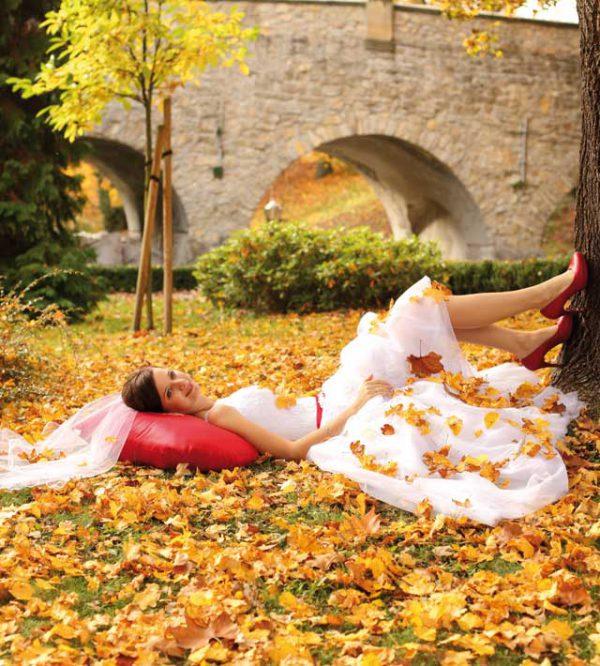 I romantici e suggestivi colori che solo delle nozze in autunno possono regalare
