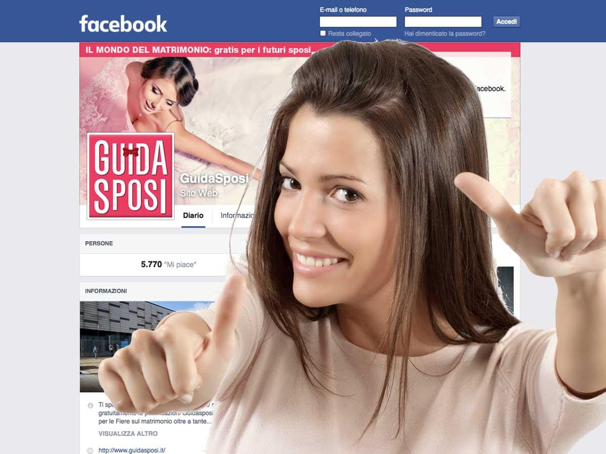 Guidasposi è sempre con te … su Facebook, Twitter, Google+, YouTube