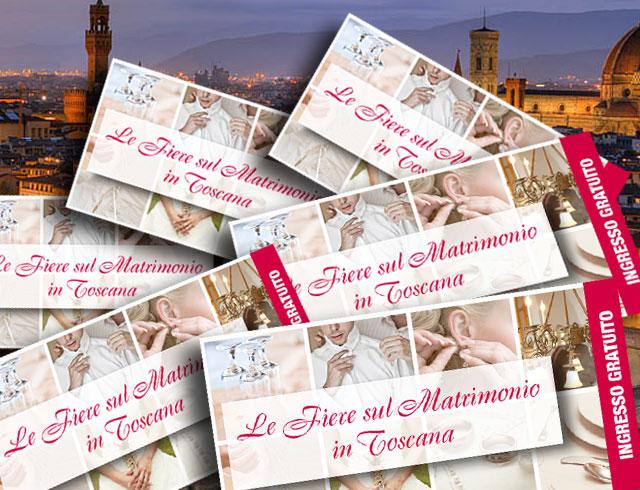 Richiedi gli inviti OMAGGIO per le principali Fiere dedicate ai futuri sposi della Toscana
