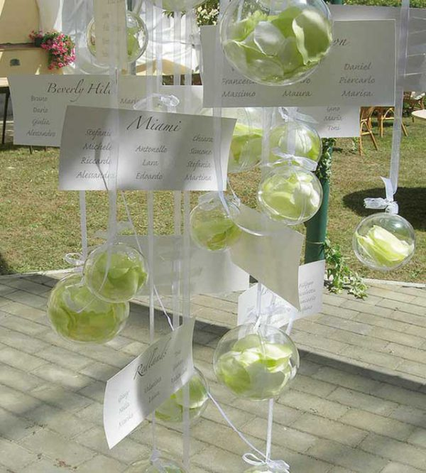 Bomboniere matrimonio e un tableau de mariage creativo... per una grande festa