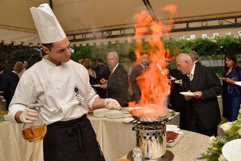 In villa catering