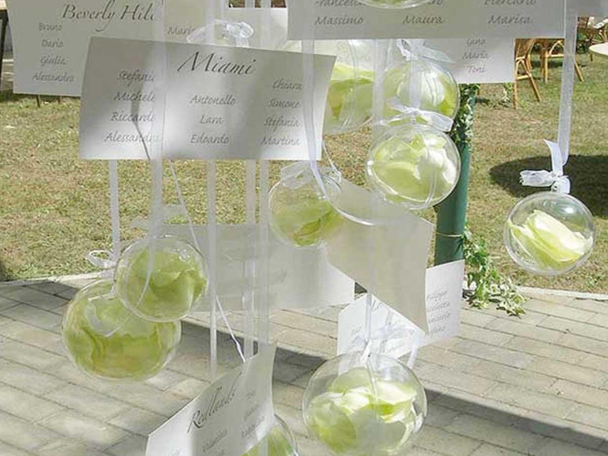 Bomboniere matrimonio e un tableau de mariage creativo for Luogo di nozze con cabine