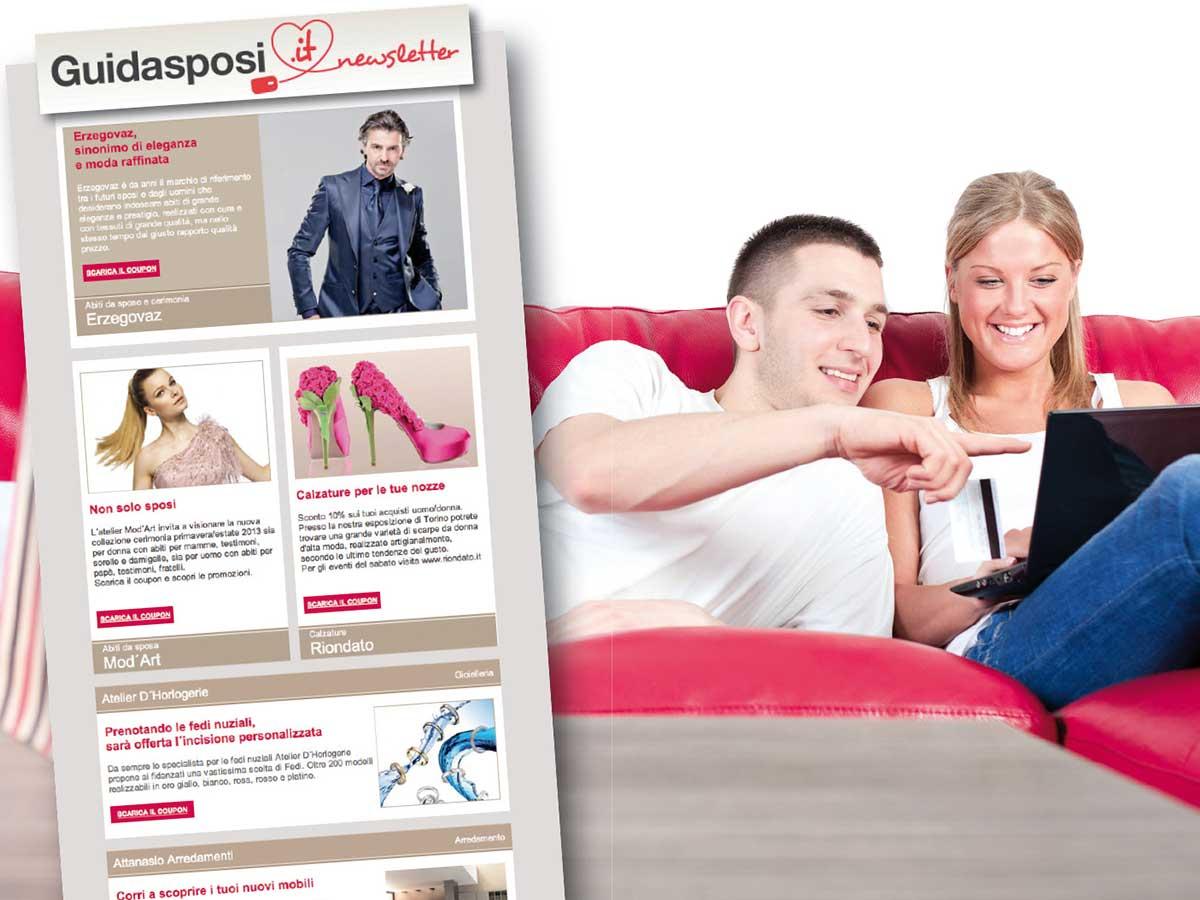 Iscriviti alla Guidasposi Newsletter: promozioni e sconti esclusivi per il tuo matrimonio ti apettano