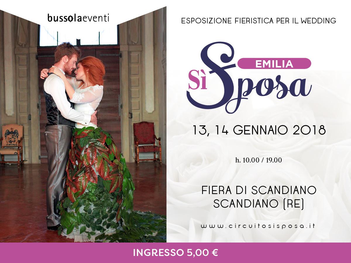 Emilia Sì Sposa, il 13 e 14 gennaio 2018 alla Fiera di Scandiano