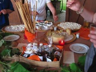 Degustazione del menù in omaggio per gli sposi che prenotano il banchetto da Tenuta Sant'Anna