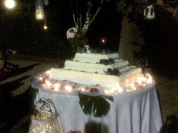 Open bar e allestimento della torta nuziale sono inclusi nel prezzo del ricevimento con Lele catering