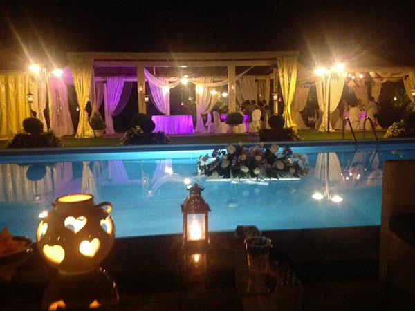 La location Villa i Girasoli è lieta di offrire ai novelli sposi la suite per la prima notte di nozze