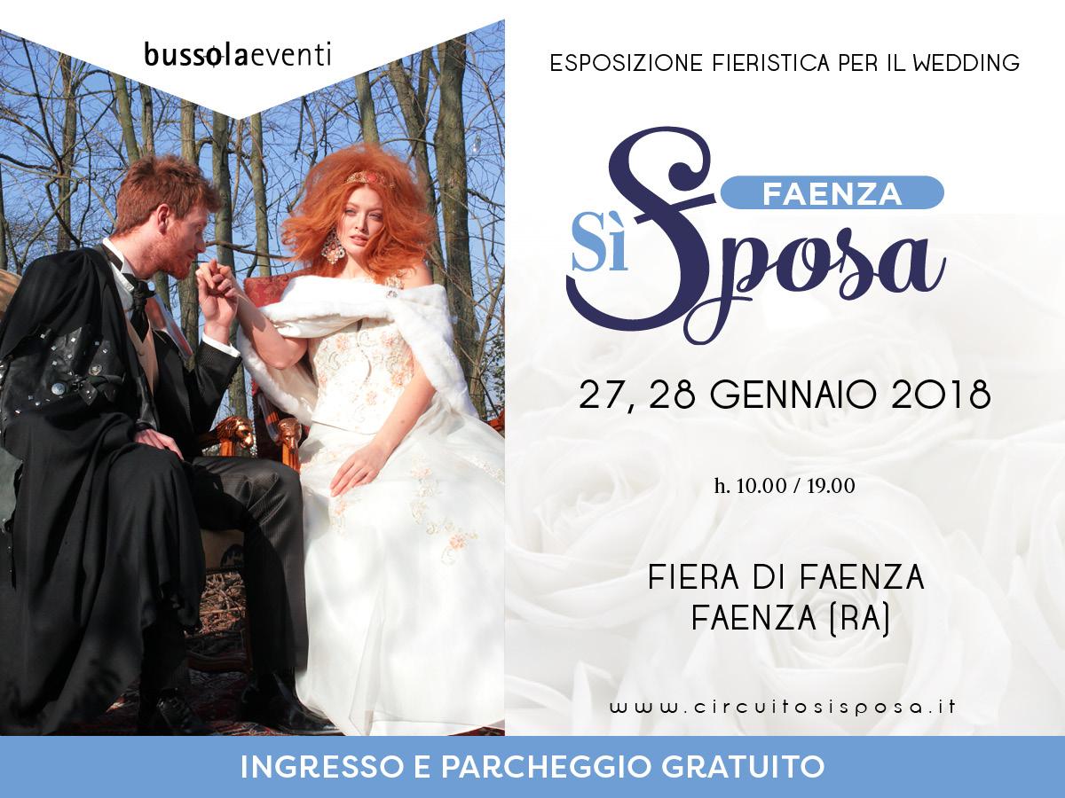 Faenza Sì Sposa, il 27 e 28 gennaio 2018 alla Fiera di Faenza