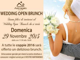 Partecipate numerosi al Wedding Open Brunch, domenica 29 novembre, presso la location Astragalo