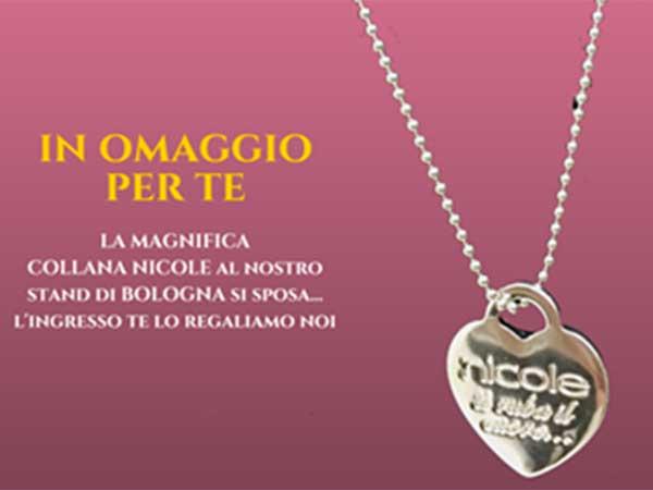 L'atelier di abiti da sposa Le Mariage ruba il cuore, regalando in fiera la splendida collana Nicole
