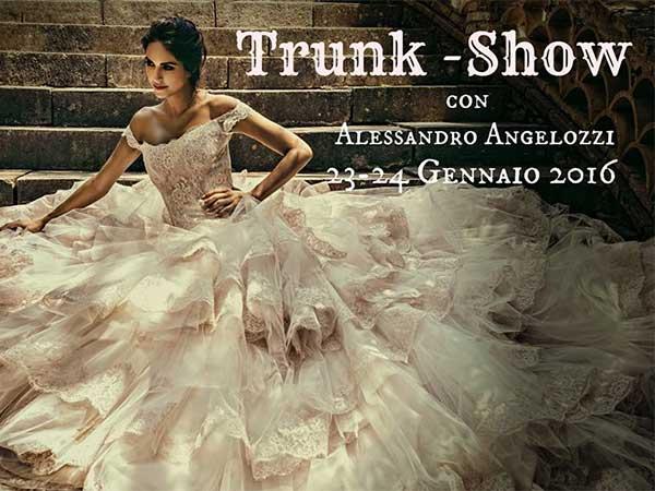 """Alessandro Angelozzi """"Trunk show"""", presso l'atelier Il Barone Rosso Sposa, il 23 e 24 gennaio 2016"""