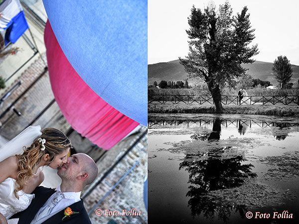 Lo studio fotografico Foto Follia regala ai futuri sposi due album per i genitori ed una tela 30x40