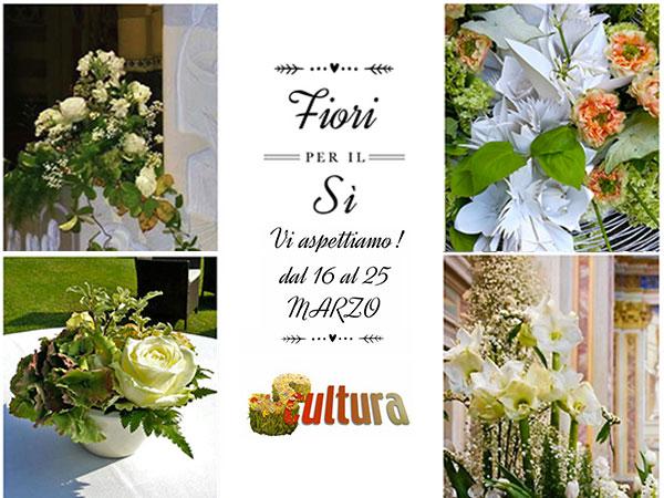 """Scultura Fiori invita i futuri sposi alla mostra """"Fiori per il Sì"""" dal 16 al 25 marzo 2016"""