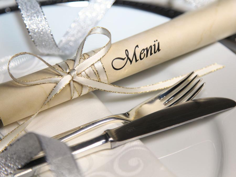 Il cartoncino del buon appetito da utilizzare anche il giorno delle nozze