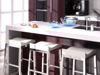 In cucina, uno spazio per il pranzo di tutti i giorni