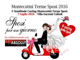 """Villa Garzoni ospita la prima semifinale del casting di Montecatini Terme """"Sposi per un giorno"""""""
