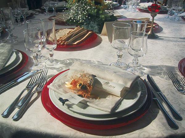 Degustazione gratuita del menù per chi prenota il banchetto di nozze all\'Antica Osteria dell\'Abate
