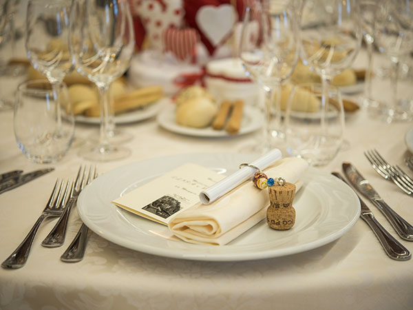 Cena di prova omaggio per gli sposi e i genitori prenotando il banchetto nuziale da Eventi & Sapori