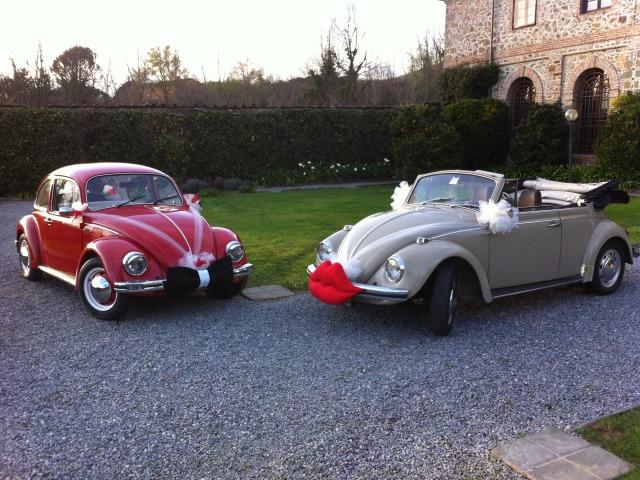 Maggiolino Cabrio Auto Matrimonio Sposi