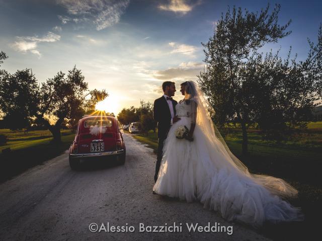 Fiat 500 auto matrimonio sposi