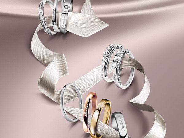 La gioielleria Albarosapreziosi applica il 20% di sconto agli sposi che acquistano le fedi nuziali