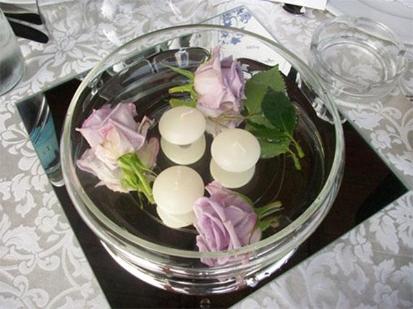 In omaggio i centrotavola agli sposi che prenotano il ricevimento di nozze presso Ville Panazza