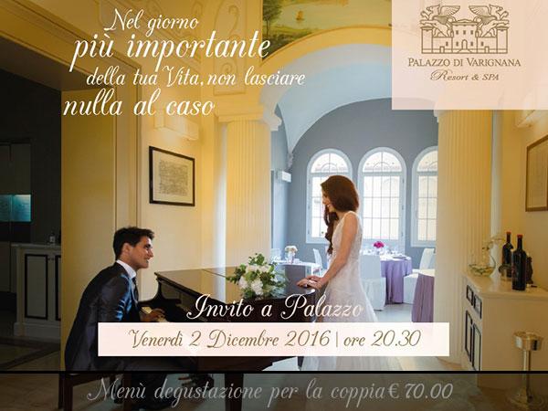 Palazzo di Varignana vi invita a cena venerdì 2 dicembre per farvi... gustare la location