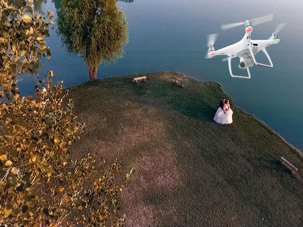 Foto con il Drone in omaggio a chi sceglie il servizio per il matrimonio dallo studio Photoraw