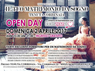 OpenDay per un matrimonio da sogno domenica 2 aprile alla Tenuta Corbinaia