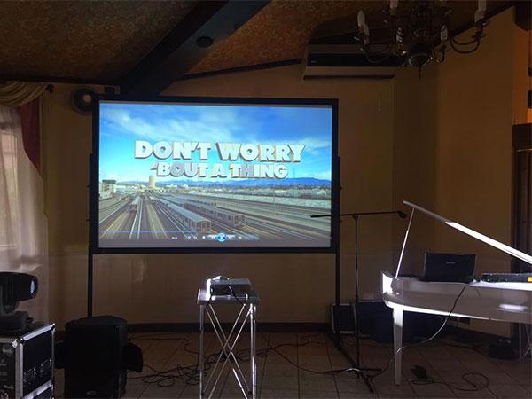 Eventi Musica In offre scontato del 25% il maxi schermo per un matrimonio proiettato in diretta!