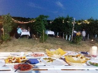 Cena romantica fra i vigneti del Podere Riosto per i futuri sposi… occasione di relax prima del matrimonio