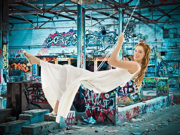 Le foto del matrimonio stile Urban park fra writers, parkour e street art a Torino