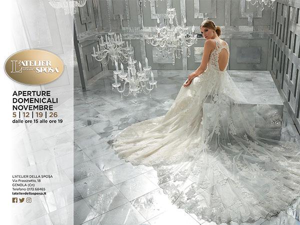 L'Atelier della Sposa apre le porte, a novembre, anche la domenica: correte a provare l'abito