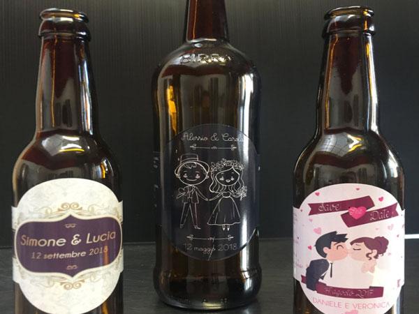 Nel Birrificio Amìs bomboniera fa rima con birra perfetta come cadeau de mariage e agli sposi una magnum in omaggio