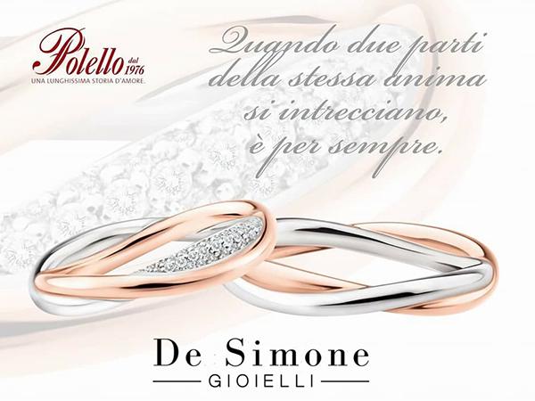 De Simone Gioielli offre il 10% di sconto sulle fedi Polello e in omaggio una coppia di flute