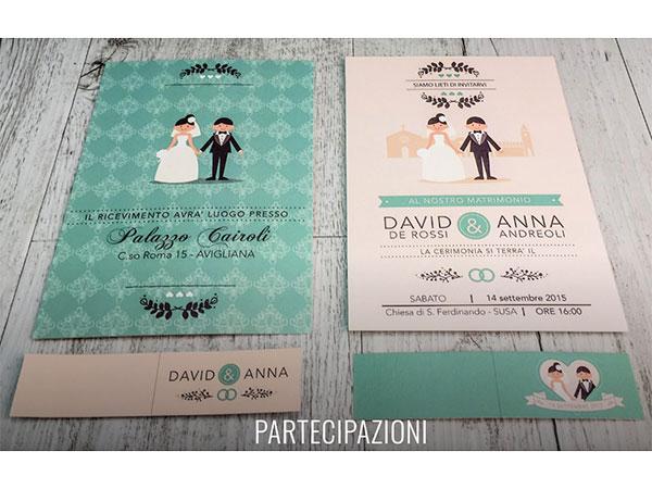 Centoscatti Graphich Wedding propone partecipazioni, buste, tableau mariage e biglietti bomboniera a un prezzo speciale