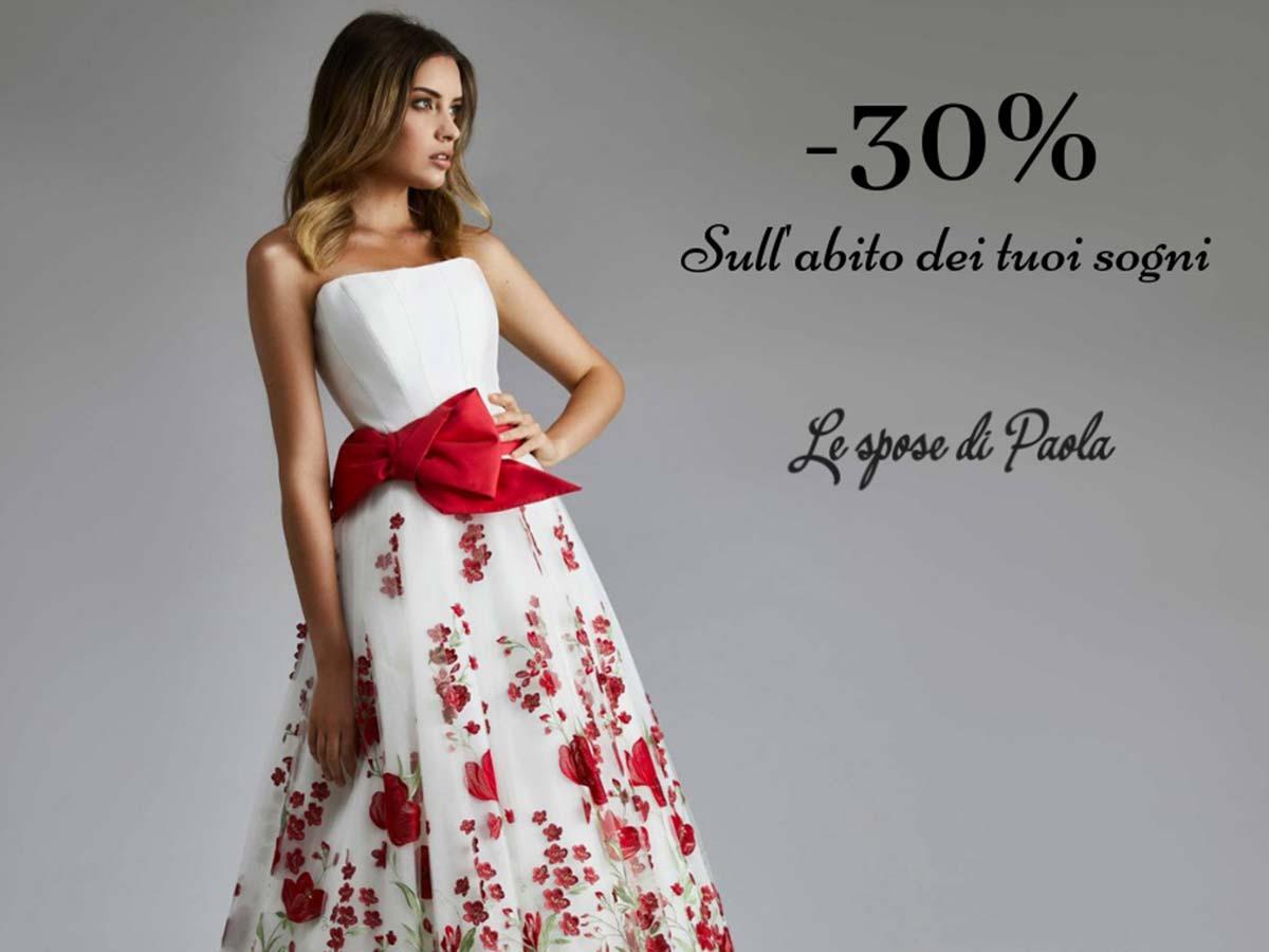 Scegli l\'abito da sposa e da sposo all\'Atelier Le Spose di Paola entro il 30 aprile per avere un imperdibile sconto